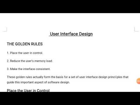 The Golden Rules User Interface Design Software Engineering Youtube