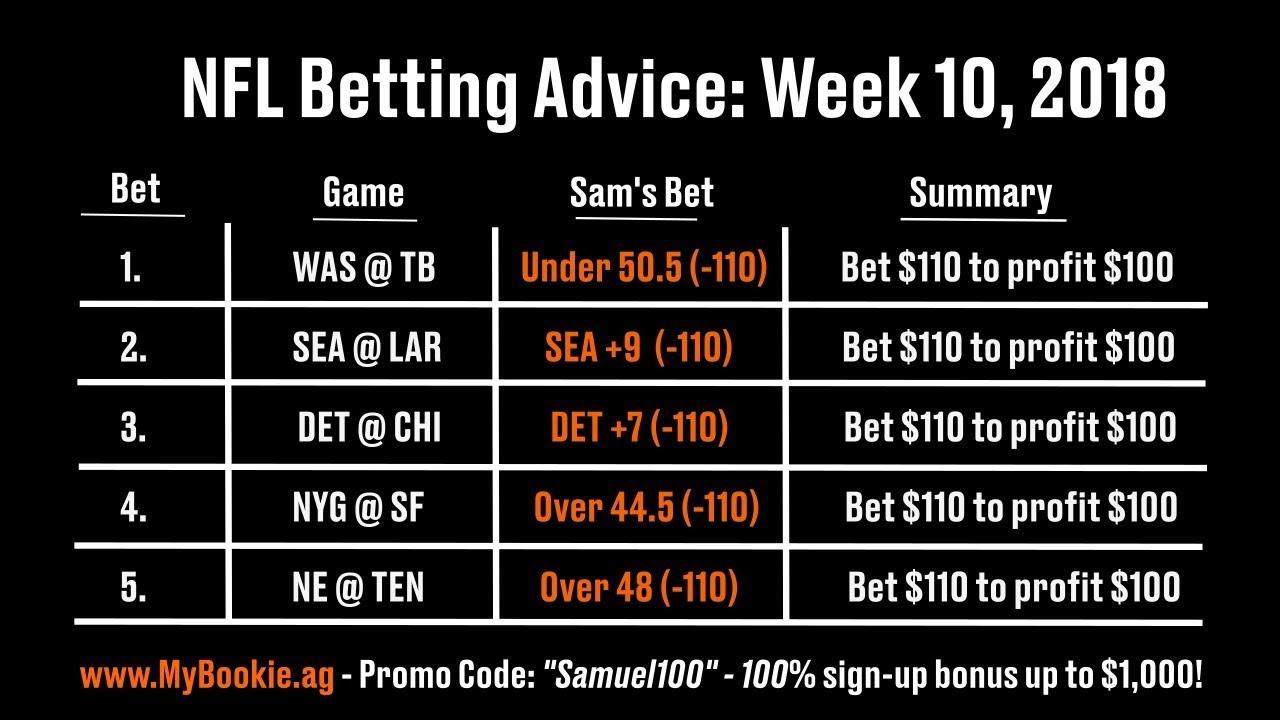 Nfl betting tips week 10 sevilla v valladolid betting previews