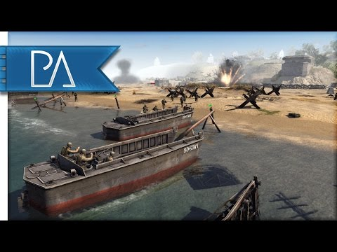 Epic D-Day Battle: Defending The Beaches Of Normandy - Men Of War Assault Squad 2 Mod Gameplay