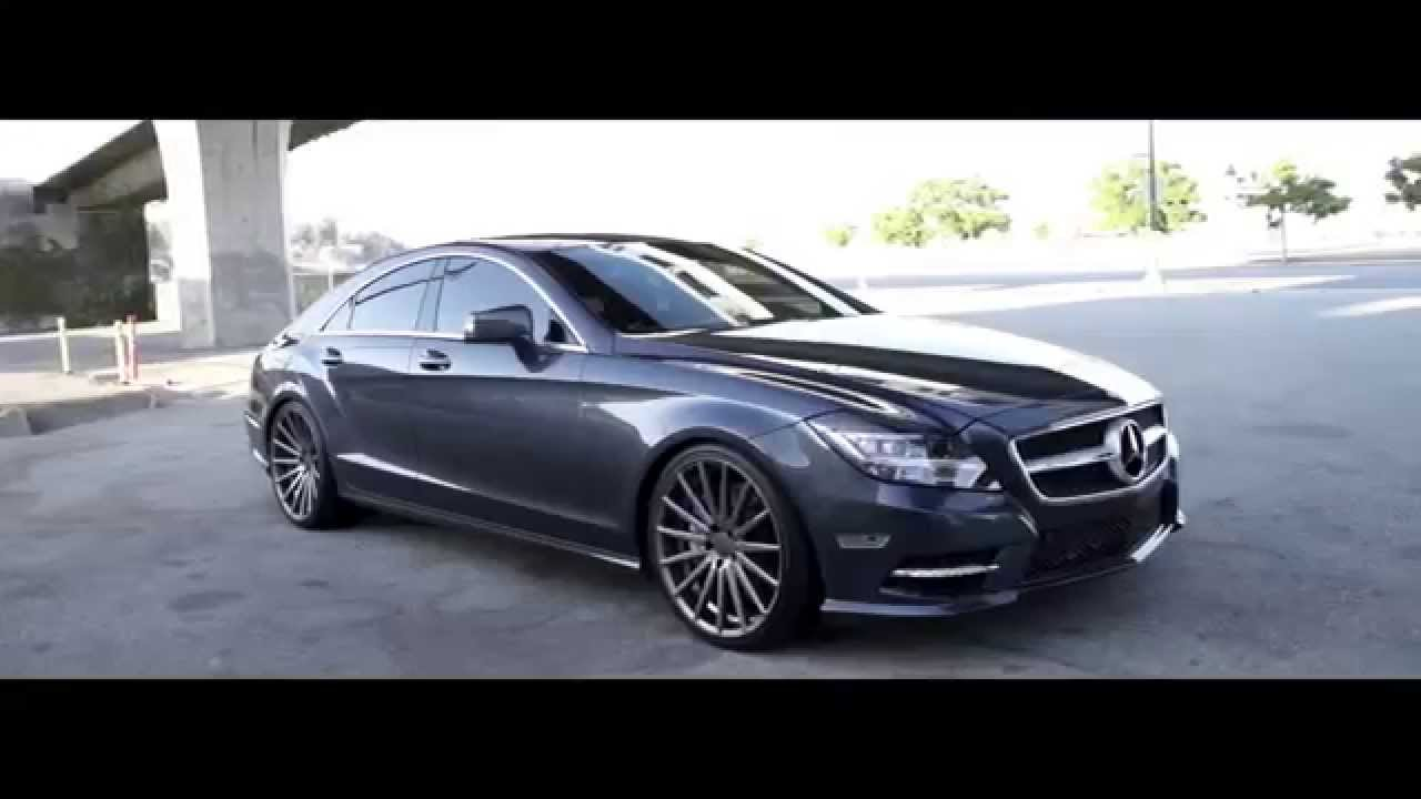 Mercedes Benz Rims >> Mercedes Benz CLS 550 Vossen 20'' VFS2 Concave Wheels Rims - YouTube
