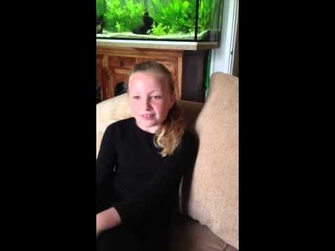 Brooke wills age 8 singing maybe from the musical Annie