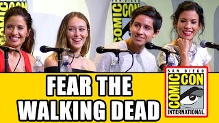fear the walking dead comic con 2016 panel highlights part 1 alycia debnam carey cliff curtis