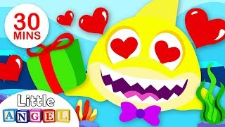 Baby Shark Celebrates Valentines Day, I Love You| Kids Songs and Nursery Rhymes by Little Angel