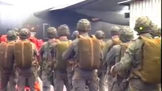 Saut du 6ème RPIMA sur la  pointe denis - Libreville - GABON 96 - parachutisme - service militaire -
