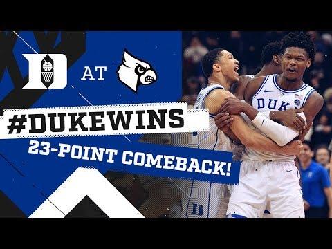 Duke Basketball: Historic Comeback at Louisville! (2/12/19) Mp3
