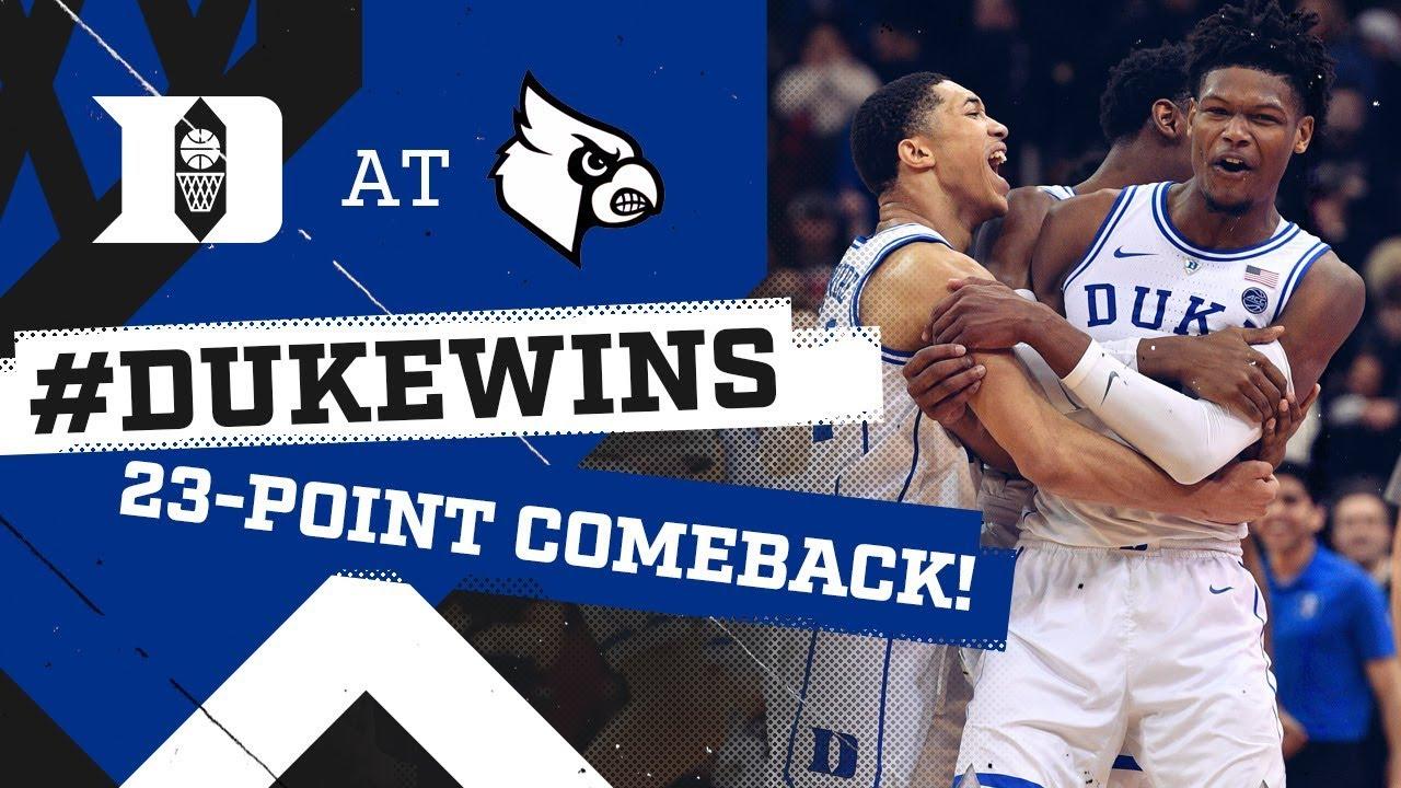 Duke Basketball  Historic Comeback at Louisville! (2 12 19) - YouTube 7458caeef