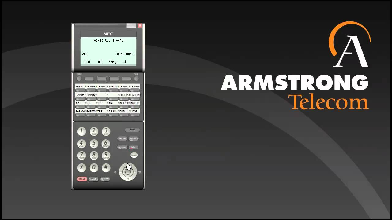 NEC SV8100 Phone Training Overview by ArmstrongTelecom