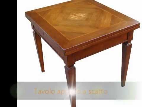 Tavolo tavoli su misura artigianali classici rettangolari ovali rotondi apribili allungabili - Piano tavolo su misura ...