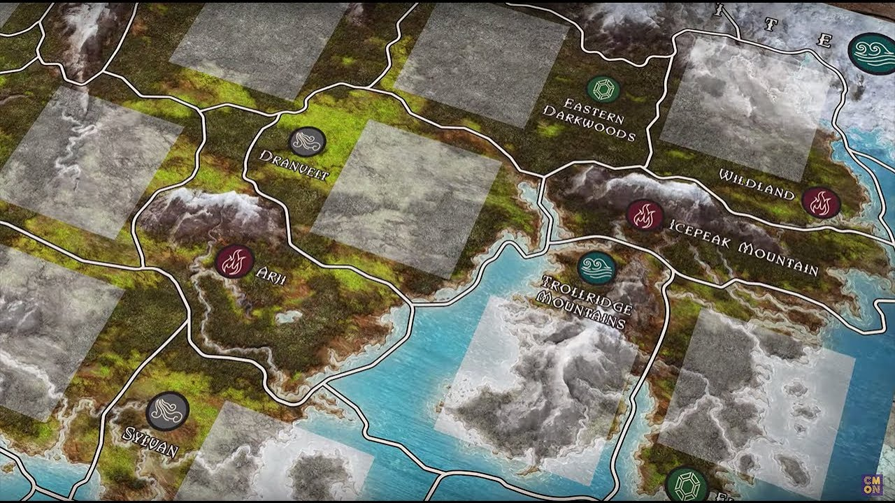 Creating the Map and Regions of Trudvang Legends (Henning Ludvigsen)