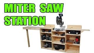 Miter Saw Station (Plus Tool Storage)