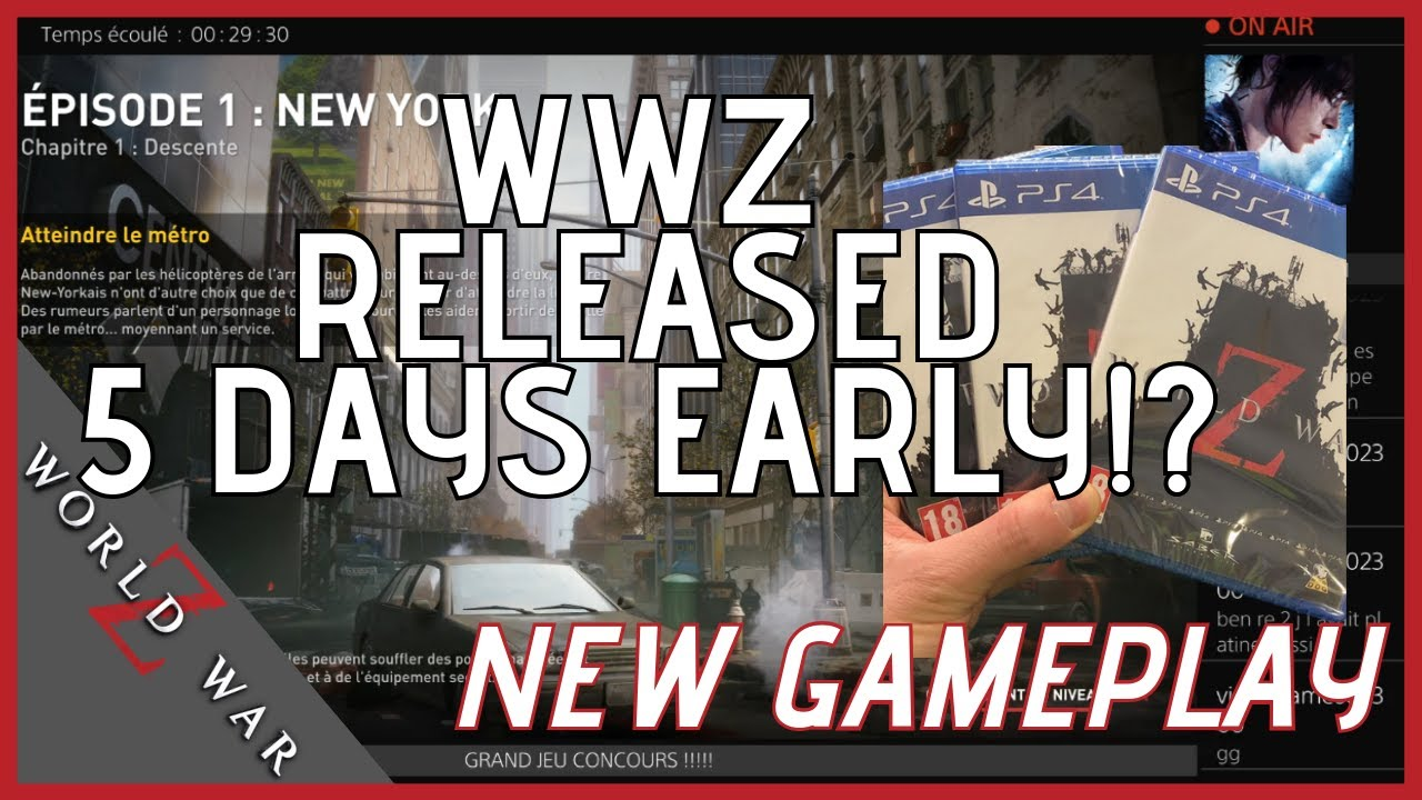 German & France Retailers released World War Z 5 days early! Devs are pissed, ps4 performance and gameplay leaked