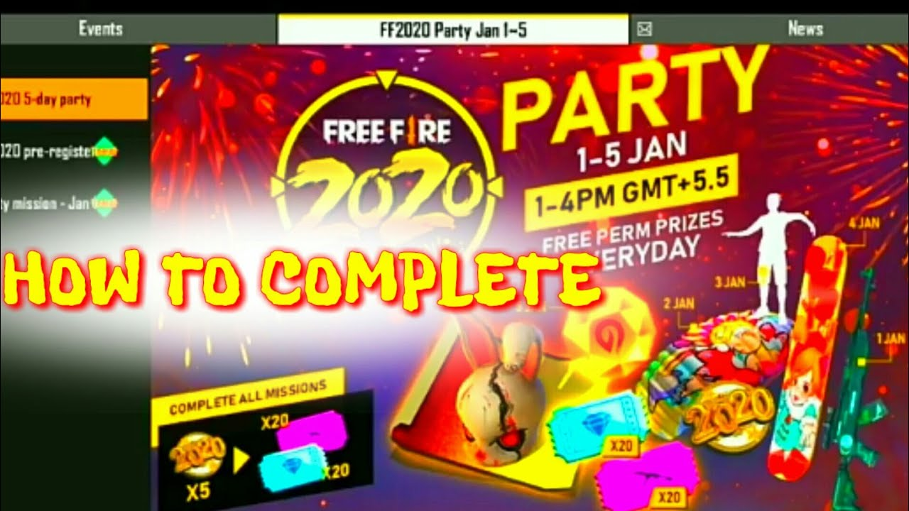New Year Event | How To Complete | Free Blueprint | Garena Free Fire | Pro Genius Gamer