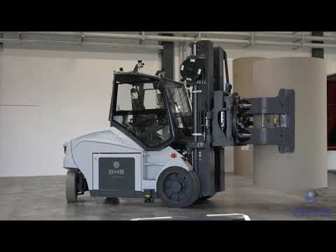 BHS IMotion (forklift) & BHS IShuttle (automated Guided Vehicle) Of BHS Corrugated In Action