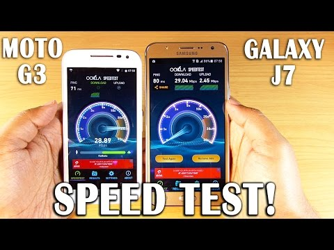 GALAXY J7 vs MOTO G 3rd Gen SPEED TEST! [Stock vs Bloatware Follow-up]