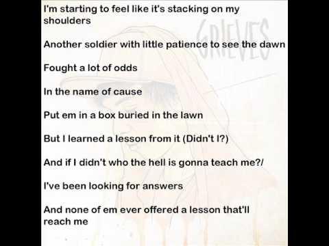 Grieves _ Pressure cracks _ Lyrics