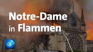 Paris: Kathedrale Notre Dame in Flammen