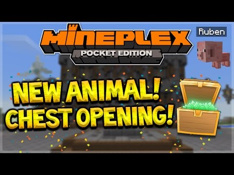 WE FOUND HIM! Minecraft Pocket Edition MineplexPE Chest Opening! THE HUNT FOR ALL ANIMALS!