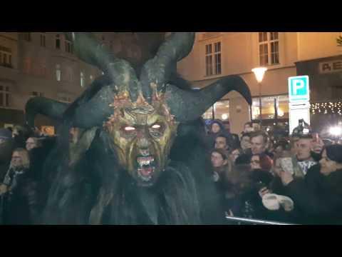 Pochod rakouských čertů v Brně