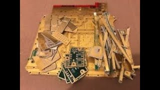 Gold Foil Recovery from Cell Phone, Computer Monitor, and other plated boards -MooseScrapper