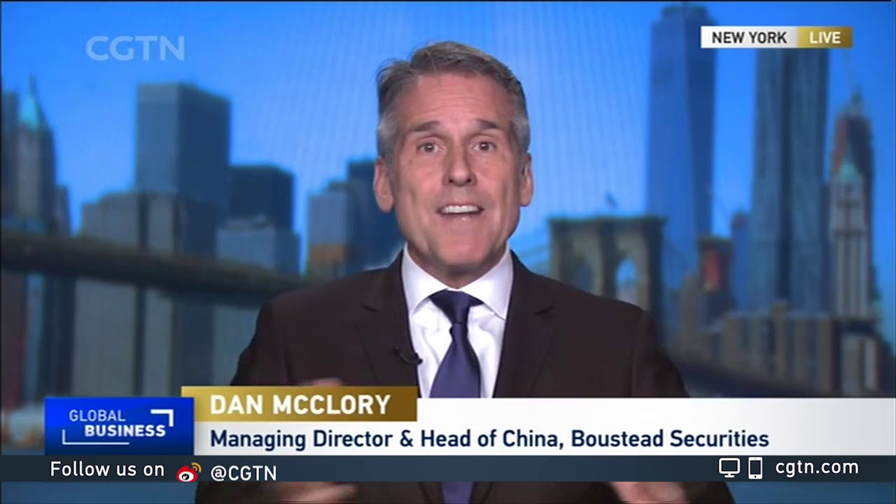 Boustead's Dan McClory Discusses Global Markets on CGTN America.