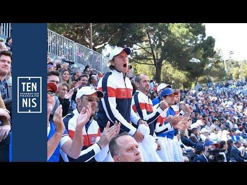 Coupe Davis 2018 - Italie / France - Les Réactions du Vendredi | FFT