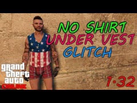 Grand Theft Auto V No Shirt Glitch /No Undershirt for your vest