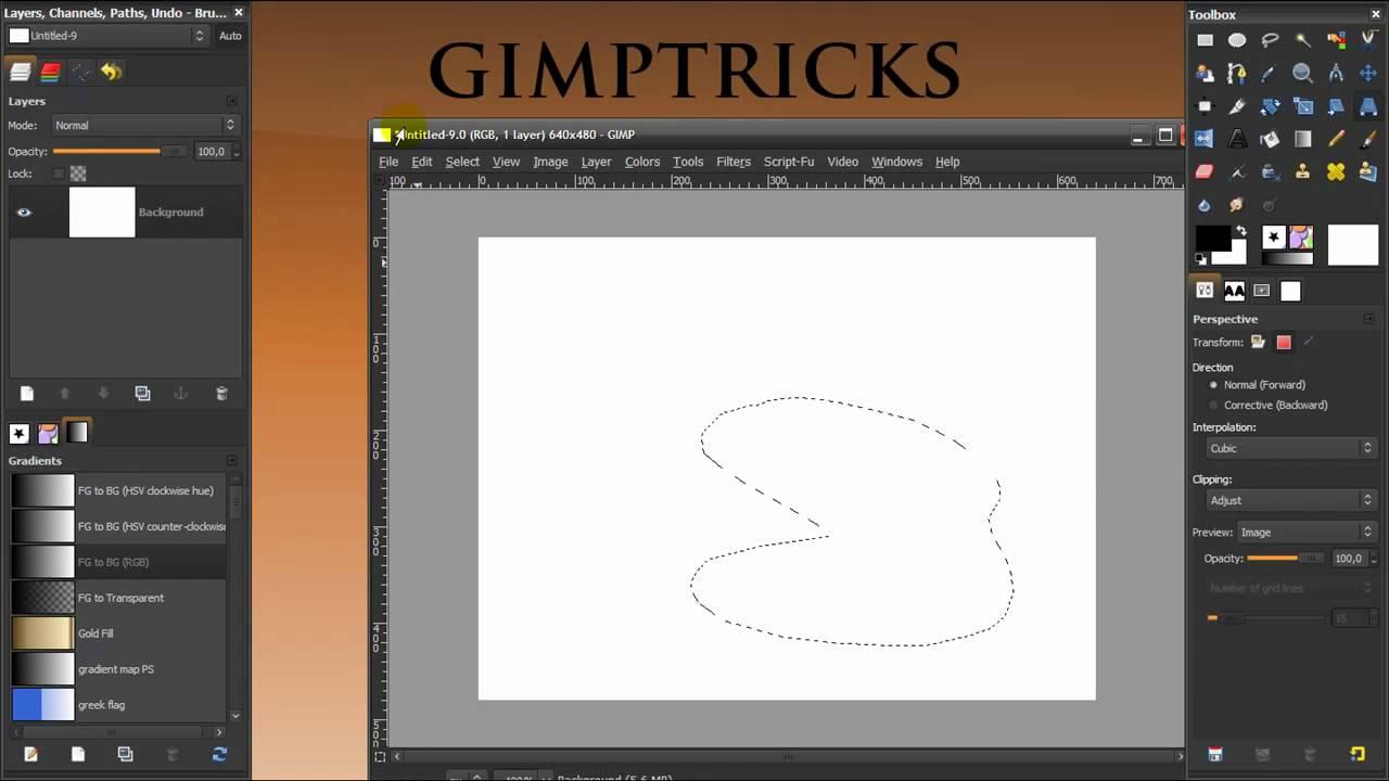 gimp tutorial the transformation tools youtube