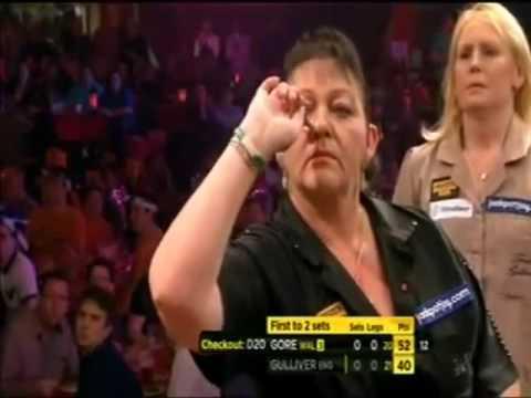 Darts Ladies World Championship 2013 Quarter Final Gulliver vs Gore