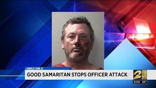 Good Samaritan Stops Officer Attack