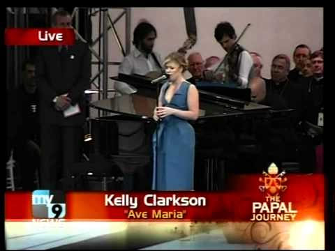 Kelly Clarkson - Ave Maria (Pope Event 2008)