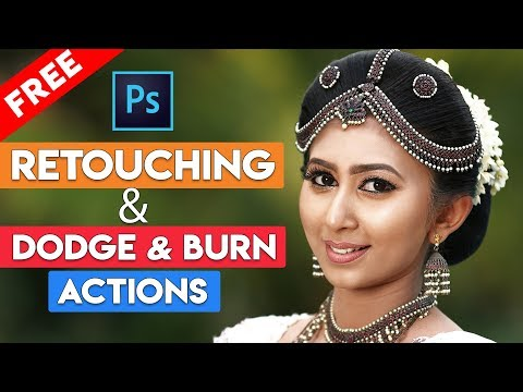 How To FREE DOWNLOAD Dodge And Burn And Skin Retouching Actions