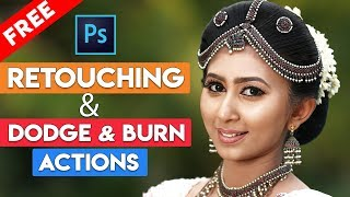 Dodge and Burn and Skin Retouching Photoshop Actions FREE DOWNLOAD NOW