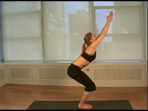 chair pose  women's health yoga  youtube