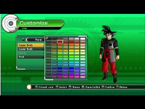 How to make Black Goku from Dragon Ball Super in Dragon Ball Xenoverse