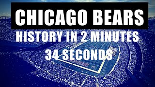 Chicago Bears History in 2 Minutes 34 Seconds