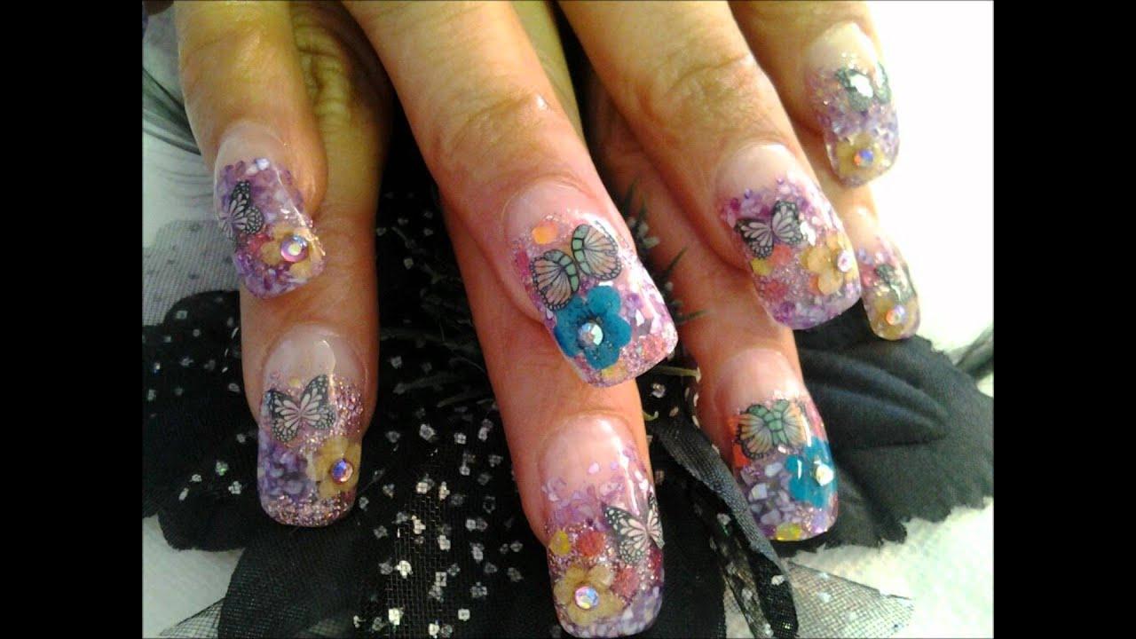 Nail Designs (Diseños de uñas Estilo Mexico) - YouTube
