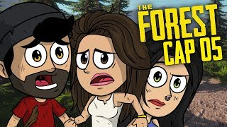 2 CANÍBALES CAEN A LA VEZ EN NUESTRA TRAMPA !! | The Forest Coop #5