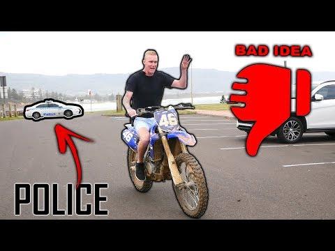 I STOLE A FANS MOTOR BIKE!