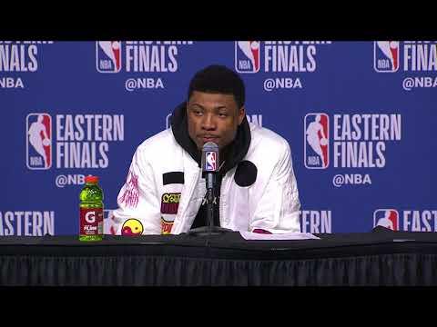 Marcus Smart Postgame Interview - Game 2   Cavaliers vs Celtics   2018 NBA East Finals