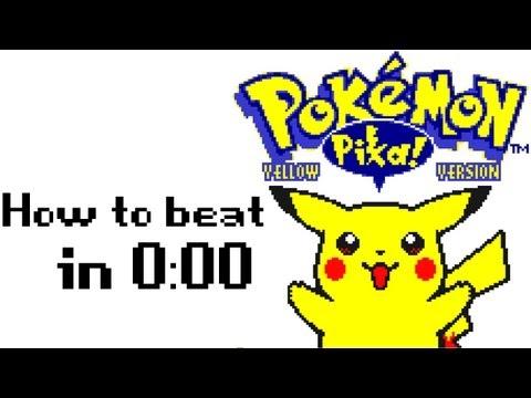 How to beat Pokemon Yellow in 0:00