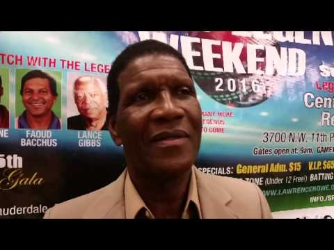 Lawrence Rowe talks Cricket Legends Weekend