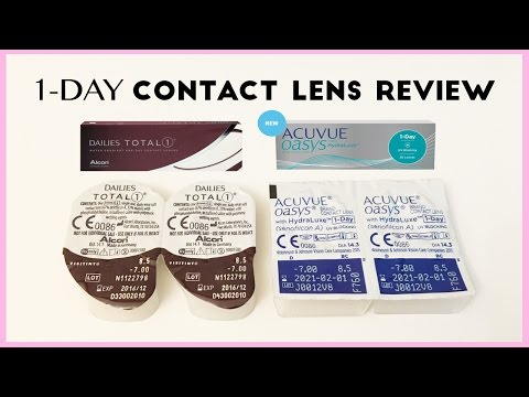 Acuvue Oasys 1 Day Vs. Dailies Total 1 Contact Lens Comparison | AskAshley