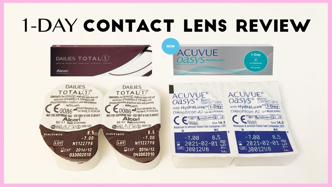 Acuvue Oasys 1 Day vs. Dailies Total 1 Contact Lens Comparison   AskAshley 04e6e161b704