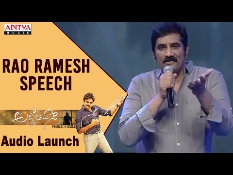 Rao Ramesh Speech @ Agnyaathavaasi Audio Launch | Pawan Kalyan | Trivikram