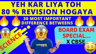 MOST IMPORTANT DIFFERENCE BETWEEN QUESTION OF SCIENCE CBSE CLASS 10TH  BOARD EXAM 2020