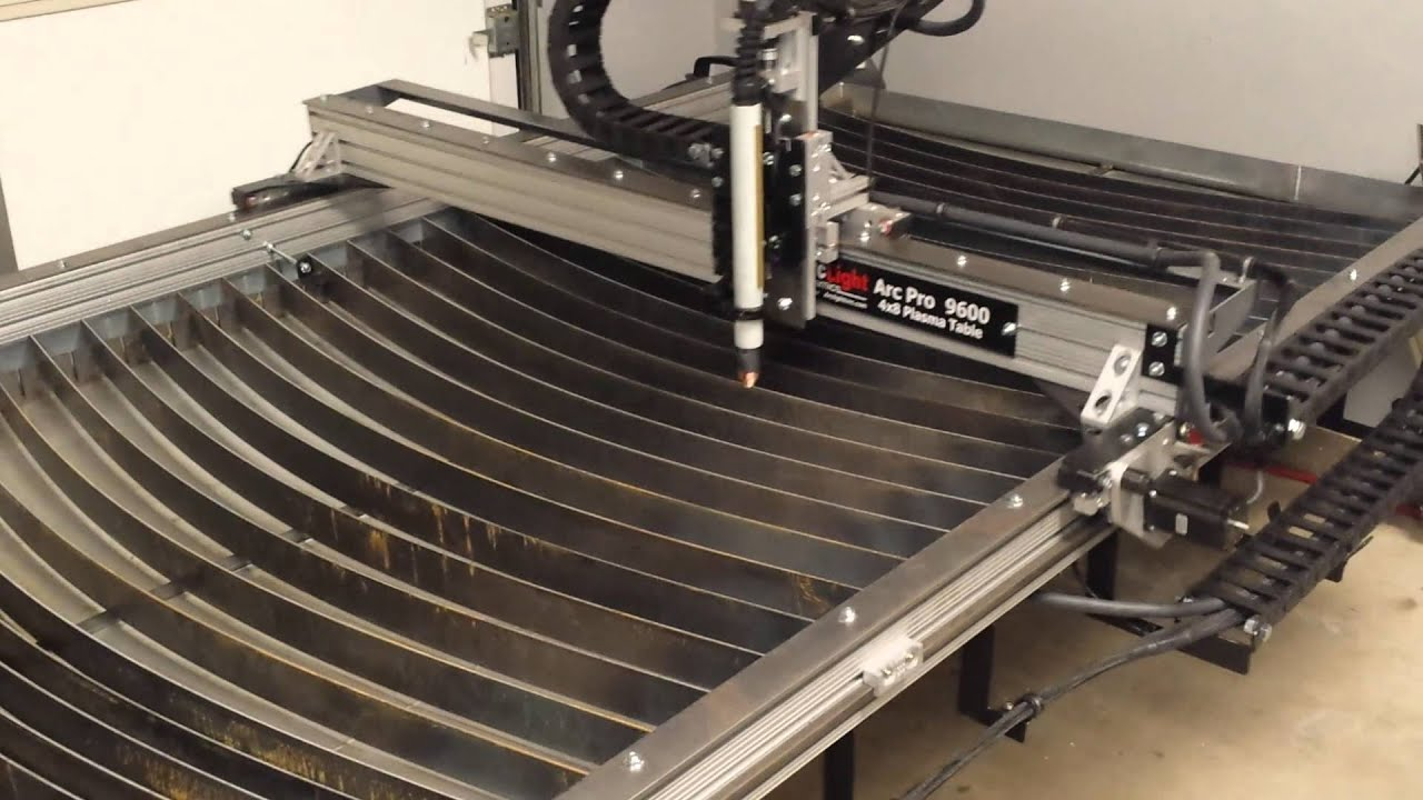 dry run of arclight 9600 cnc. - youtube