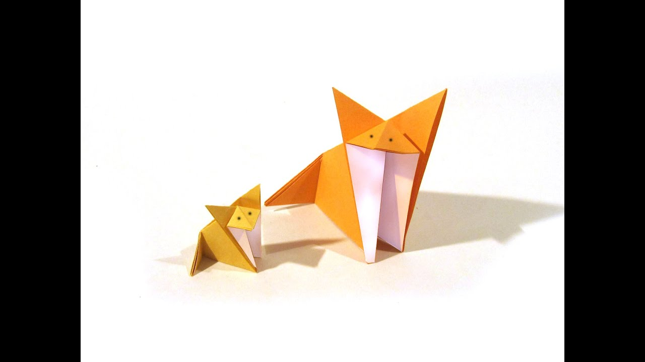 origami fox easy origami tutorial how to make an
