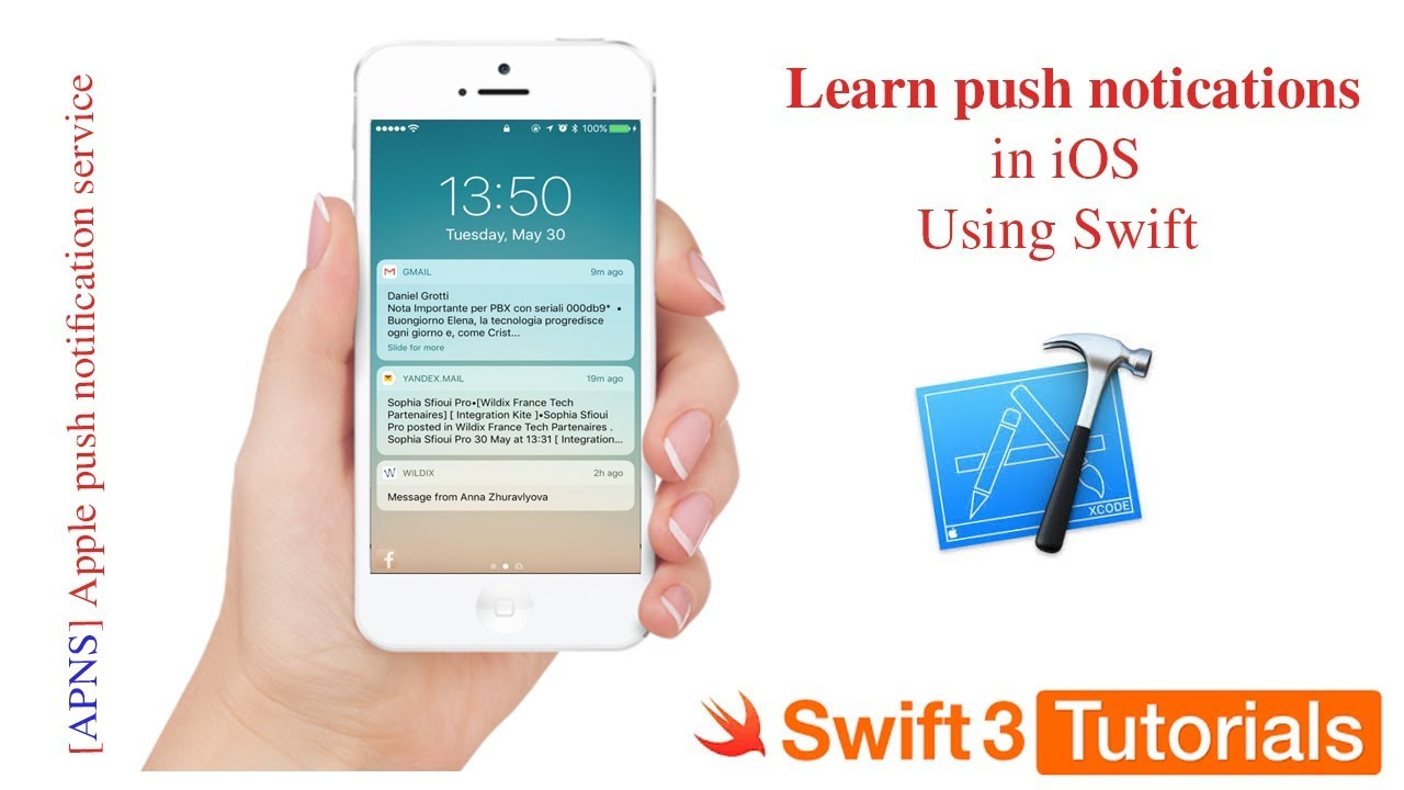 Integrate push notifications in iOS using swift 3 and swift 4