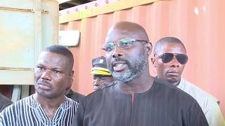President Weah Inspects Road Projects in Bong and Nimba Counties