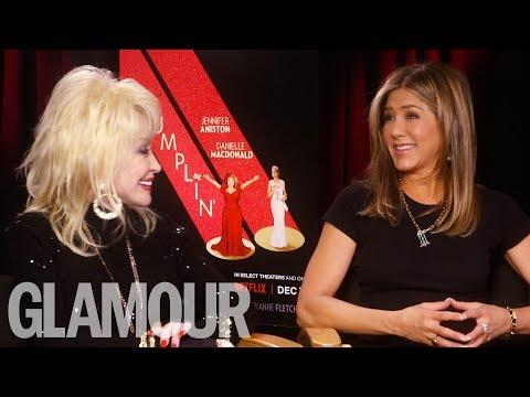 'Dumplin'' Stars Jennifer Aniston & Dolly Parton Give Us The Ultimate Confidence Boost  | GLAMOUR UK
